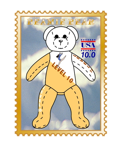 Level 10 Beamie Bear Pin