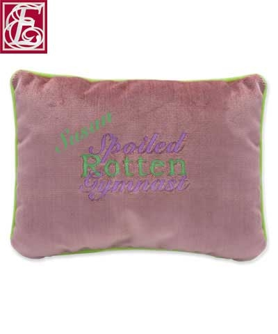 Personalized Spoiled Rotten Gymnast Pillow