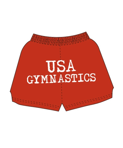 USA Gymnastics Shorts-Red FREE SHIPPING