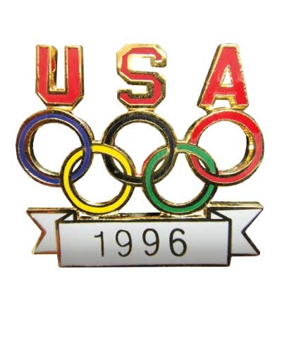 1996 USA Olympic Rings Pin