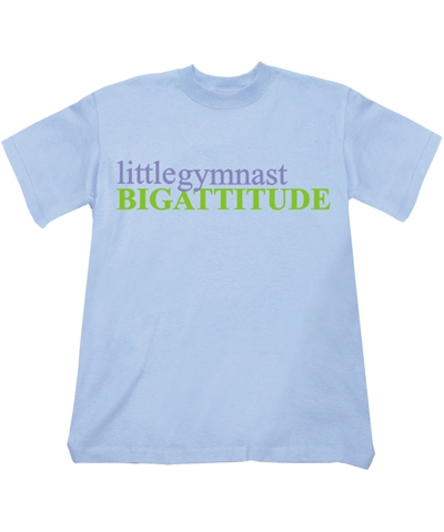 Bahama Blue little gymnast Tee