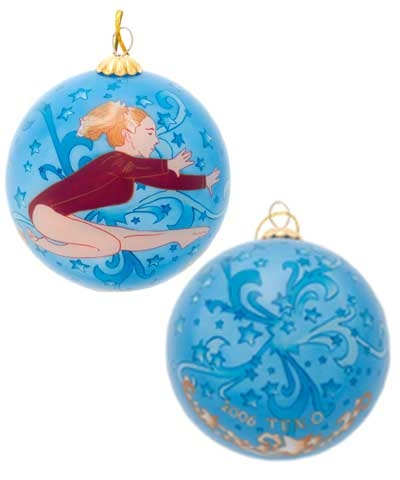 Blue Stars Leap Christmas Ornament