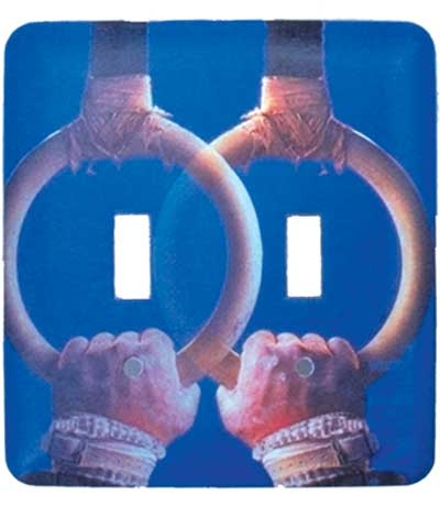 Rings Double Light Switch Plate