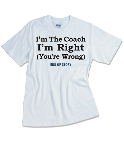 Coach/End of Story Tee FREE SHIPPING