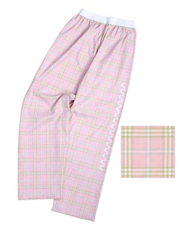 Pink Flip Flop Plaid Gym Jammies FREE SHIPPING
