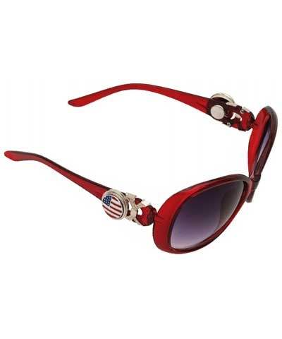 Red Snap Button Sunglasses (charm sold separate)