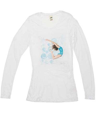 Gymnast Can Fly White Long Sleeve Burnout Tee