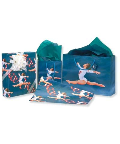Gymnastics Gift Bag & Wrap Kit