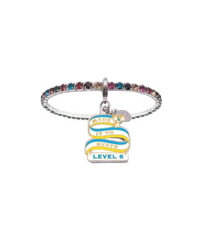Level 6 Made It To State Rhinestone Bracelet FREE SHIPPING