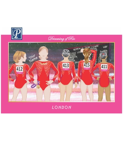 Personalized London 2012 Team Poster