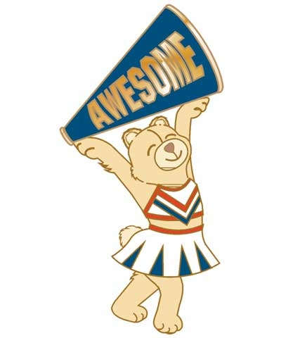 Cheerleader Awesome Pin