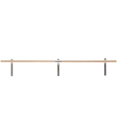 12 Ft Non Adjustable Wall Mounted Ballet Barre / Bar