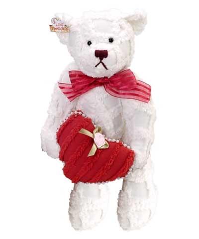Chenille Valentine Bear