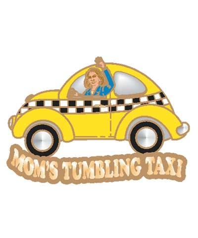 Mom's Tumbling Taxi Pin