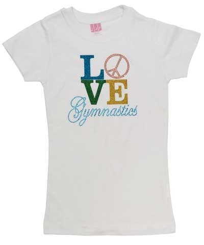 LOVE AND PEACE Girly Tee FREE SHIPPING
