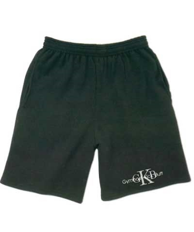 Boys Gymnast Kick Butt Black Workout Shorts