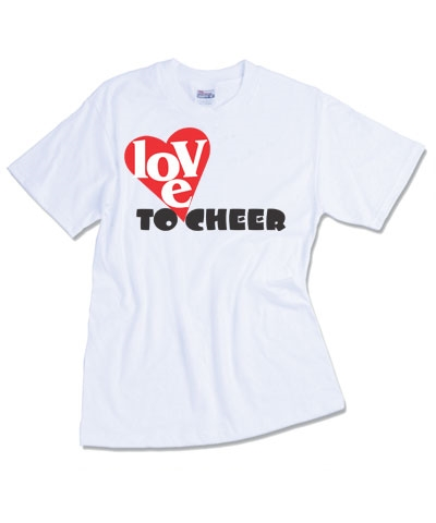 Cheerleader Love To Cheer Tee