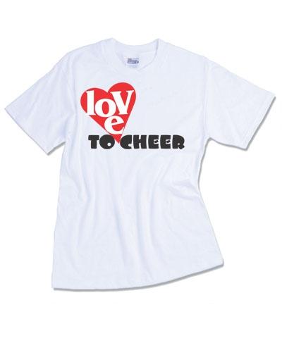Cheerleader Love To Cheer Tee FREE SHIPPING