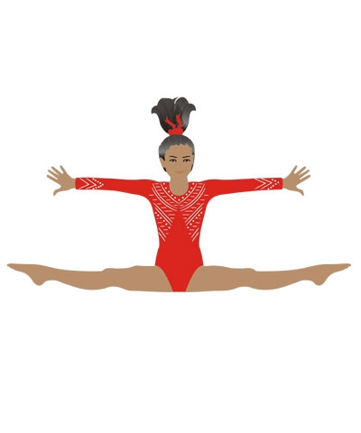 Dark-Skinned Straddle Leap Pin