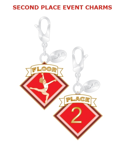 Gym Charm - 2nd Place Floor FREE SHIPPING