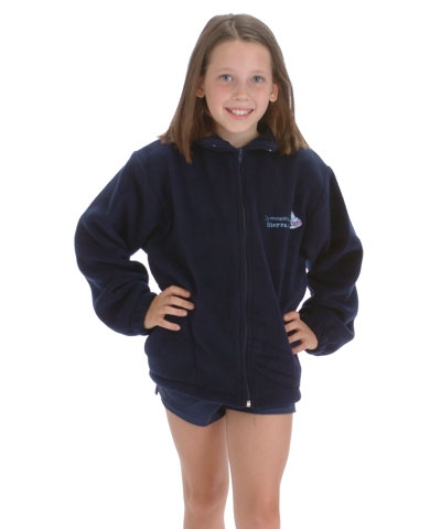 Personalized Gymnastics Is Life Navy Fleece Jacket