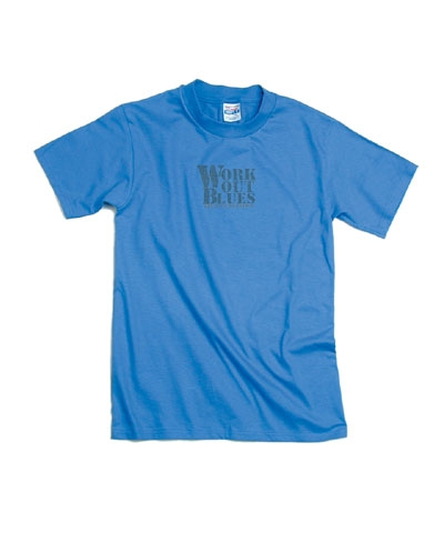 Work Out Blues Denim Tee FREE SHIPPING