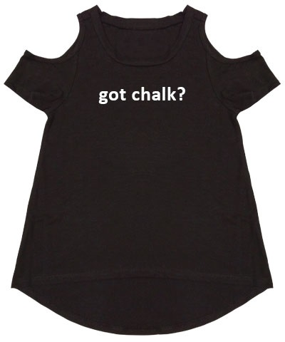 Got Chalk Black Cold Shoulder Tee