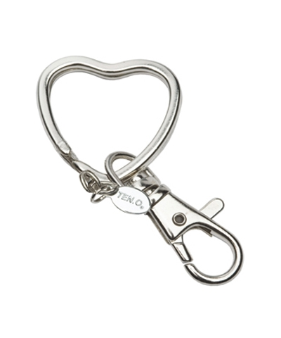 Heart-Shaped Charm Holder Key Ring