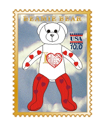 Love Gym Beamie Bear Pin FREE SHIPPING