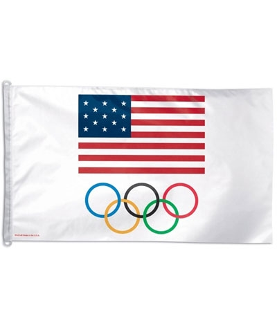 USA 5 Ring Olympic Flag