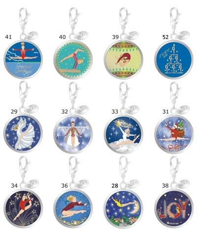 Christmas Ball Retro Charms (Set of 12)
