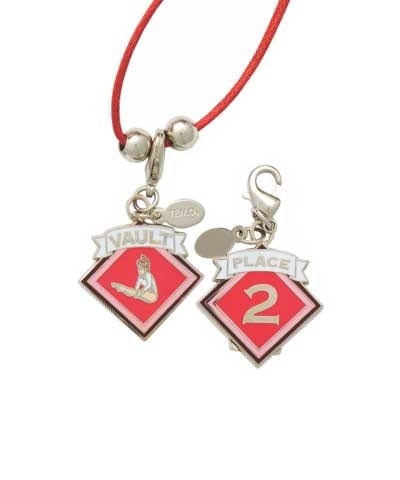 2nd Place Vault Charm & Cord Necklace