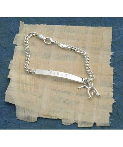 Engraved Gymnastics or Cheer ID Bracelet