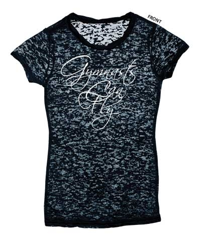 Gymnast Can Fly Rhinestone Wings-Black