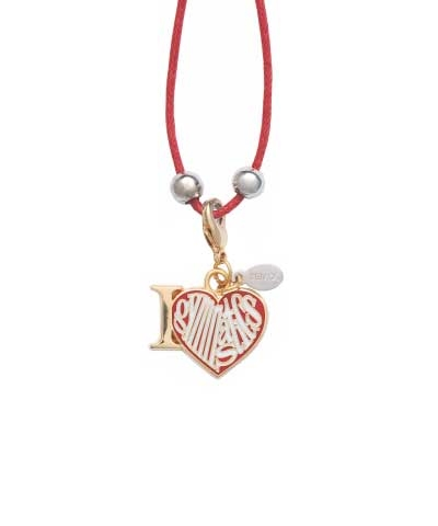 Love Gym Charm & Cord Necklace