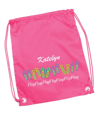 Personalized Flip Flop Back Pack