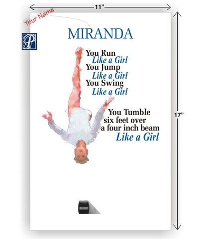 "11""x17"" Personalized Like A Girl Poster FREE SHIPPING"