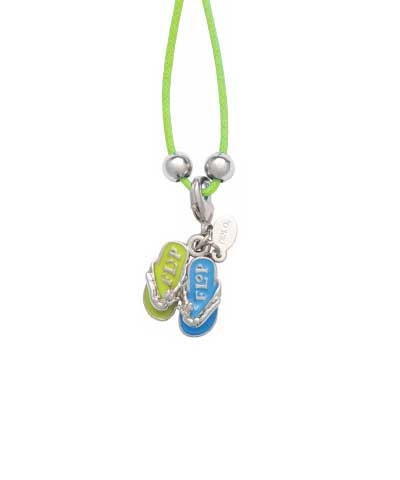 Flip Flops Charm & Cord Necklace