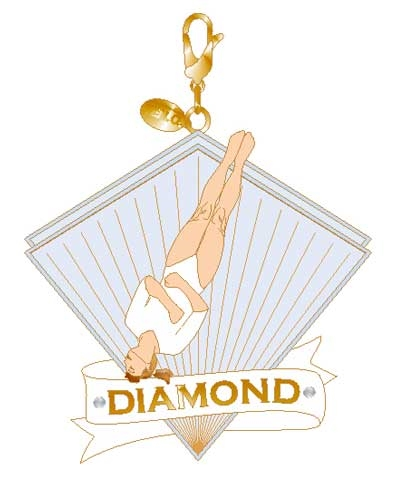 Xcel Diamond Twist Gym Charm