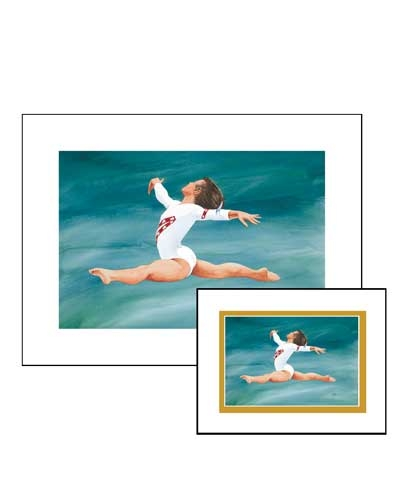 "5""x8"" Golden Grace Gymnastics Print"