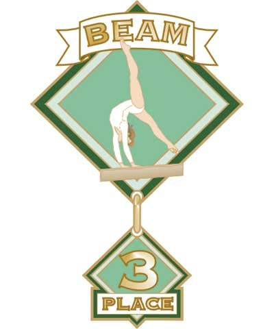 Beam 3rd Place Pin