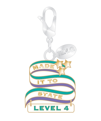 Gym Charm - Made It To State Level 4 FREE SHIPPING