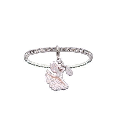 Your Angel Tumbles With You Crystal Rhinestone Bracelet
