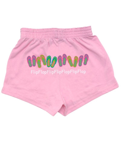 Pink Flip Flop Bar V-notch Shorts FREE SHIPPING