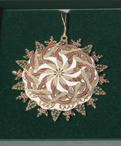 """""""Inverted Giant"""" Snowflake Wreath Christmas Ornament FREE SHIPPING"""