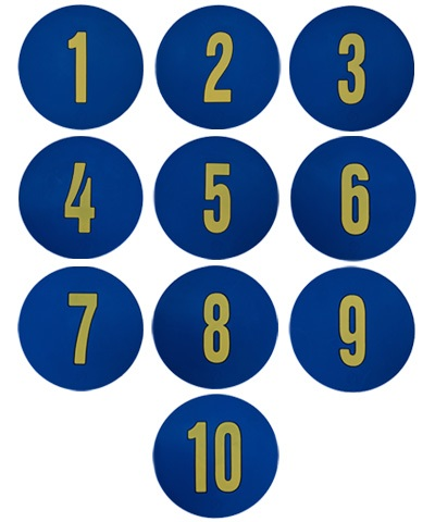 Poly Pads Numbers Blue/Yellow FREE SHIPPING
