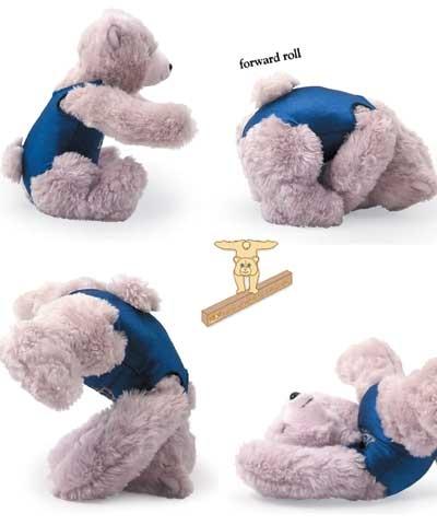 TEN-O Beamie Bear in Blue Leotard
