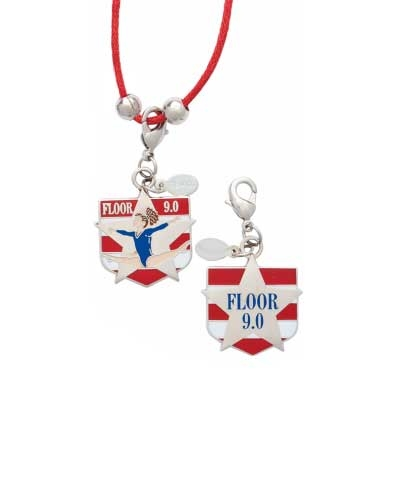 9.0 Floor Charm & Cord Necklace