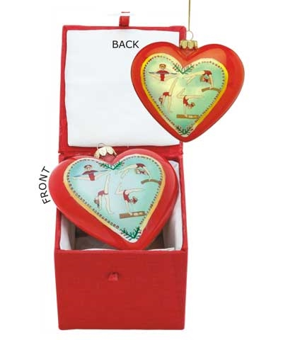 Red Heart Christmas Ornament