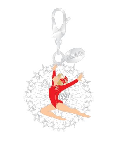 Stag Leap Snowflake Silvertone Charm